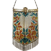 Vintage Mandalian Gloria Mesh Purse Bag Handbag Bracelet Opening