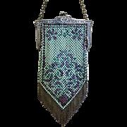 Vintage Mandalian Mesh Purse Bag Handbag Enamelled