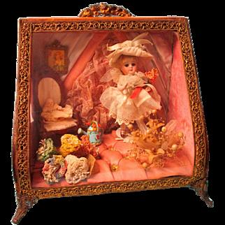 Wonderful1880's Ormalu Wedding Casket Has Mignonette