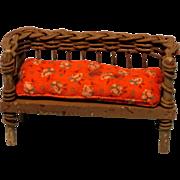 Vintage Little Wicker Sofa - No Damage