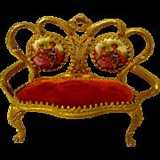 Gorgeous Vintage Limoges Ormalu Love Seat - Red Tag Sale Item