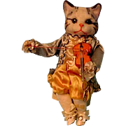Museum Piece German Cat Doll Elaborate Costume Very Rarely Found