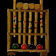 Tiny Wooden Croquet Set