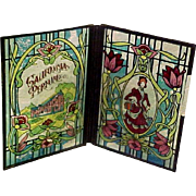 REDUCED!  Vintage Glass Folding Screen With Perfume Logo