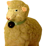 Toy Lamb All Original With Bell