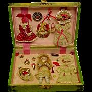 REDUCED!  Vintage Celluloid Presentation Box For Mignonette Doll