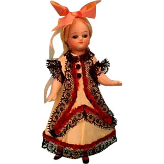 """Dress For Mignonette Doll  5"""" to 6"""""""