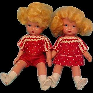 Earliest Japan Mold Nancy Ann Dolls - Brother & Sister