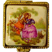 Tiny Limoges Golden Box for Fashion Doll
