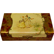 Old Celluloid Box With Antique Doll and Presentation