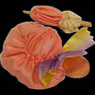 Teeny Hat And Umbrella Vintage Silk