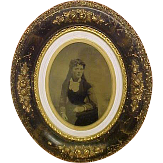 Antique Lady Picture For Your Doll Room - All Original