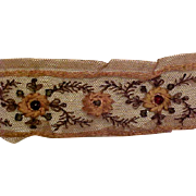 Beautiful Antique Lace Embedded With Faux Gems