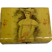 Antique Celluloid Box For Mignonettes or Other Displays