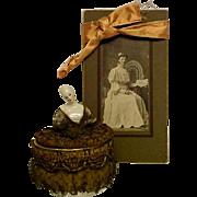 Half Doll w/Metallic Lace and Powder Box