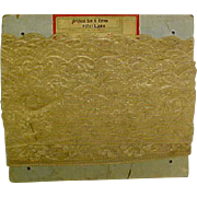 Antique French or English Lace On Board