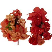 Two Clusters of Vintage Flowers