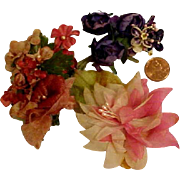 3 Bunches of Vintage Flowers