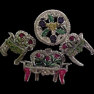 Miniature Soft Metal Doll Furniture