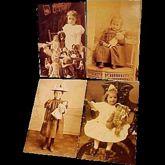 Four Postcards of Children Photos