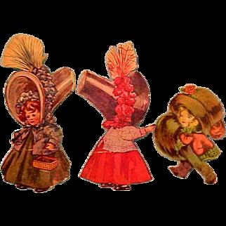 Scrap Book Bonnet Head Dolls - Vintage