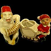 1920's Santa & Sleigh Plus Monkey & Accordian For Your Dolls