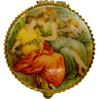 Tiny Ormalu and Porcelain Box For Your Doll To Hold