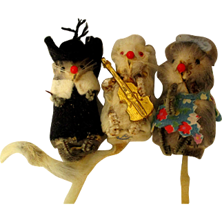 German Vintage Mice With Stickers
