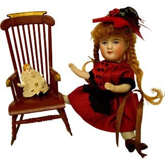 Marx Rocking Chair With Teeny Baby