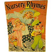 Nursery Rhymes Children's Book - 1939 Merrill Publishing by Florence Salter