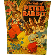 Peter Rabbit - Children's Book - 1943 - Excellent! Merrill Publishing