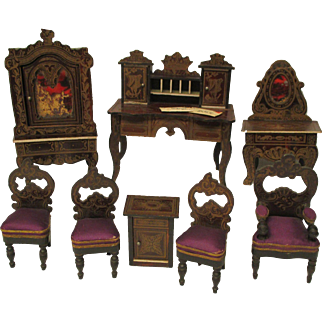 Fabulous Biedermeier Dollhouse Furniture