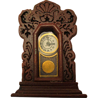 Beautiful Antique Doll House Clock