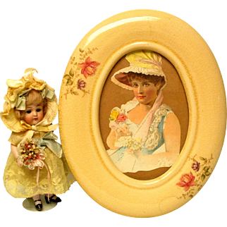 Victorian Lady Picture And Frame