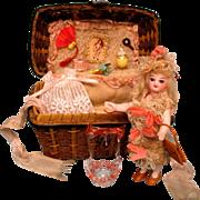 Barefoot French Mignonette In Original Costume Swivel Head