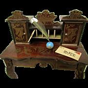 Antique Biedermeier Desk For Your Dollhouse In Wonderful Condition