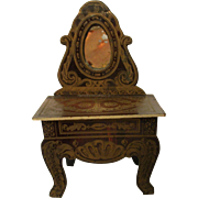 Antique Biedermeier Cabinet For Your Dollhouse