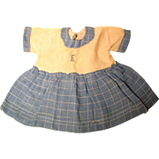 Woven Fabric Doll Dress for Medium Size Doll
