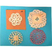 4 Tiny Doilies For Doll House Furniture
