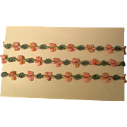 Vintage Silk Rosebud Trim For Doll Hats and Clothes