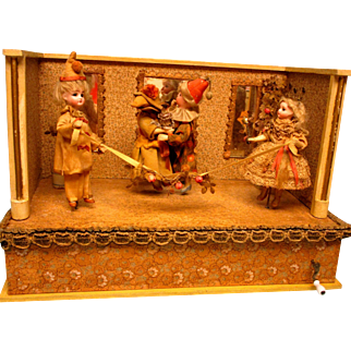Christmas Sale!! Excellent Musical Dancing Dolls - German - Ca. 1890