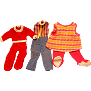 Mattel Tippee and Two Other Outfits
