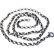 """Vintage 24"""" Sterling Rolo Chain Necklace"""