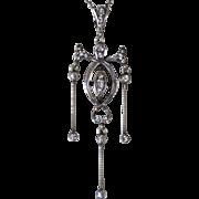 Edwardian Sterling Paste Necklace