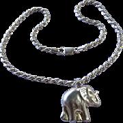Sterling Lucky Elephant Necklace