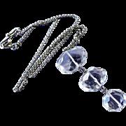 Vintage Rock Crystal Sterling Necklace