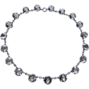 Art Deco Paste Riviere Sterling Necklace Stunning