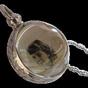 Edwardian Pools of Light Sterling Locket Necklace