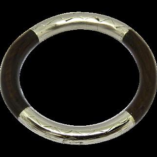 Oriental Rattan (Bamboo) Sterling Bangle Bracelet