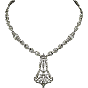 Edwardian French Paste Sterling Necklace